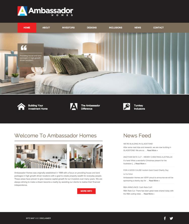 Ambassador-Homes-WordPress-Gold-Coast
