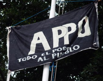 APPO Flag in the Zocalo