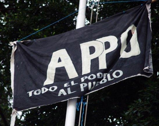 APPO Flag in the Zocalo