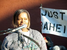 Denika Chatman is the mother of Kenneth Harding, Jr. Nineteen year-old Kenneth Harding, Jr. was approached by San Francisco police officers doing fare inspections on the Muni platform at Third and Palou on Saturday, July 16th, 2011. Within a half block of running from police through a plaza, he was shot down on Oakdale Street and left to bleed to death as police offered no medical assistance.