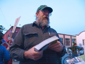 "Dennis Davie is the Forestry Committee Chair for the Santa Cruz Group of the Sierra Club. He is also a Fisheries and Endangered Species Expert, Electric Vehicle Mechanic, and Newscaster at Free Radio Santa Cruz. ""I've been actively fighting for biodiversity since 1986."" -Dennis Davie"