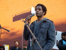 Khalid is a participant in Occupy Oakland.