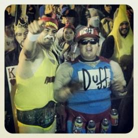 Hulk Hogan and Duffman