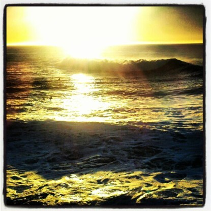 Sunrise over Monterey Bay on the final day