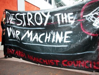 Thanks to the Bay Area Anarchist Council, five College Republicans are not seen here