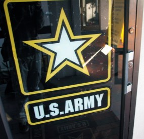 the army recruitment office was closed