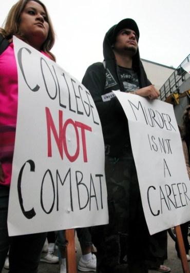 College Not Combat