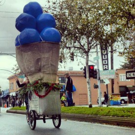 Blueberry Ice Cream Cone by The Penny Ice Creamery