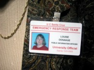 """A """"Public Information Officer"""" with an expired badge provides no information as to why journalists were prevented from entering the Career Fair"""