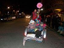 Grant Wilson Peddles a Rickshaw