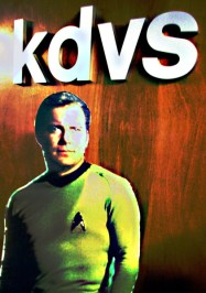Captin Kirk Beamed into KDVS Studios