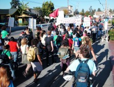marching down Mission