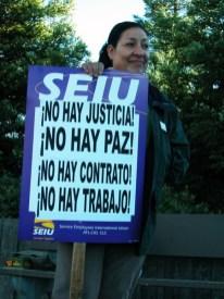¡No Hay Justicia! ¡No Hay Paz!