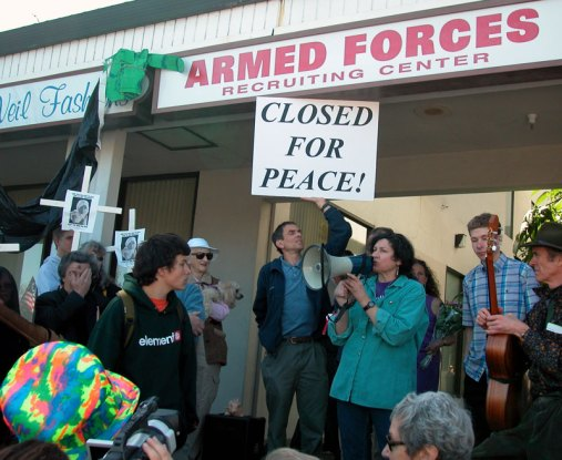 Armed Forces Recruiting Center Closed for Peace