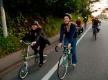 Riding and Smiling with Santa Cruz Bike Party