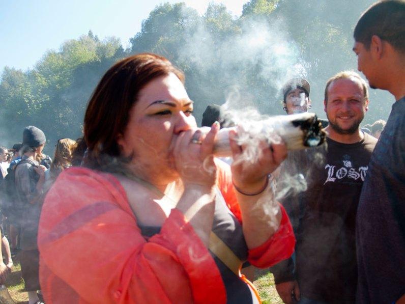 Smoking a Joint at UC Santa Cruz