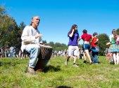 Drumming in Porter Meadow