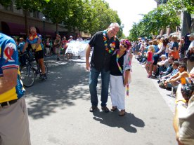 Santa Cruz Pride 2013 Grand Marshals: Stuart Rosenstein and Kathy Goldenkranz