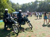 UCPD on Motorcycles at the Porter Meadow