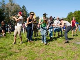 Church Marching Band on 420 at UC Santa Cruz