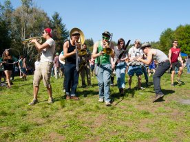 Church Marching Band on 420 at UC Santa Cruz
