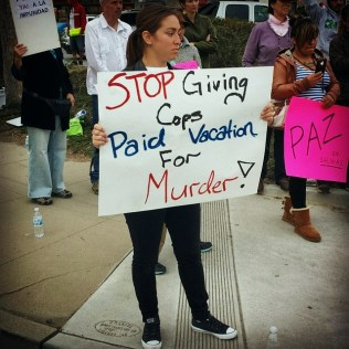 """Stop Giving Cops Paid Vacation For Murder!"""