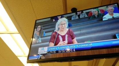 Paula's mom, Paula, speaks to City Council
