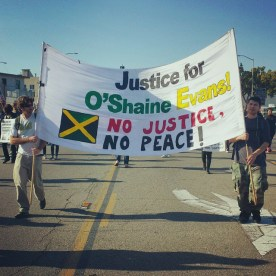 Justice for O'Shaine Evans! No Justice, No Peace!