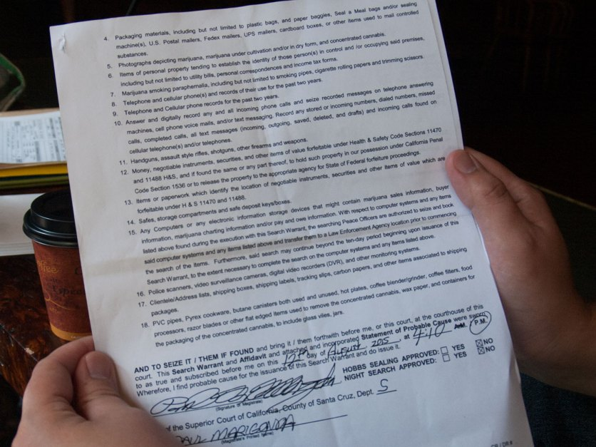Search Warrant page 2