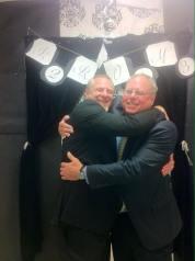 New School teachers Bryan Love and Louis LaFortune.