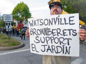 Watsonville Brown Berets Support El Jardín