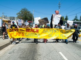 Marching on Ocean Street to Save the Beach Flats Community Garden