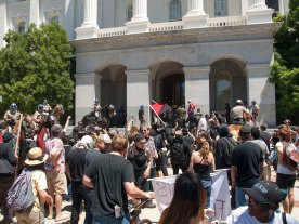 Confronting Neo-Nazis on the Capitol Steps