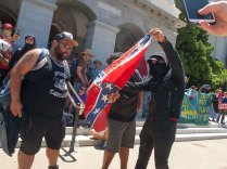 Southerners Ignite a Neo-Nazi's Confederate Flag
