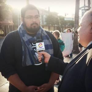 Interview with Leonardo Nahum Rivera in the Watsonville Plaza.