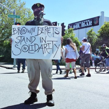 Brown Berets Stand in Solidarity