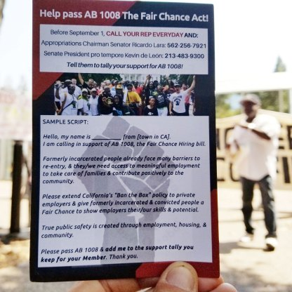Help Pass AB 1008 The Fair Chance Act!