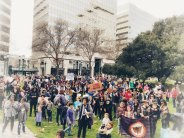 Radical Monarchs lead march into Oscar Grant Plaza