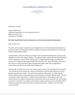 Letter from Senator Stern and Assemblymember Gabriel to DTSC