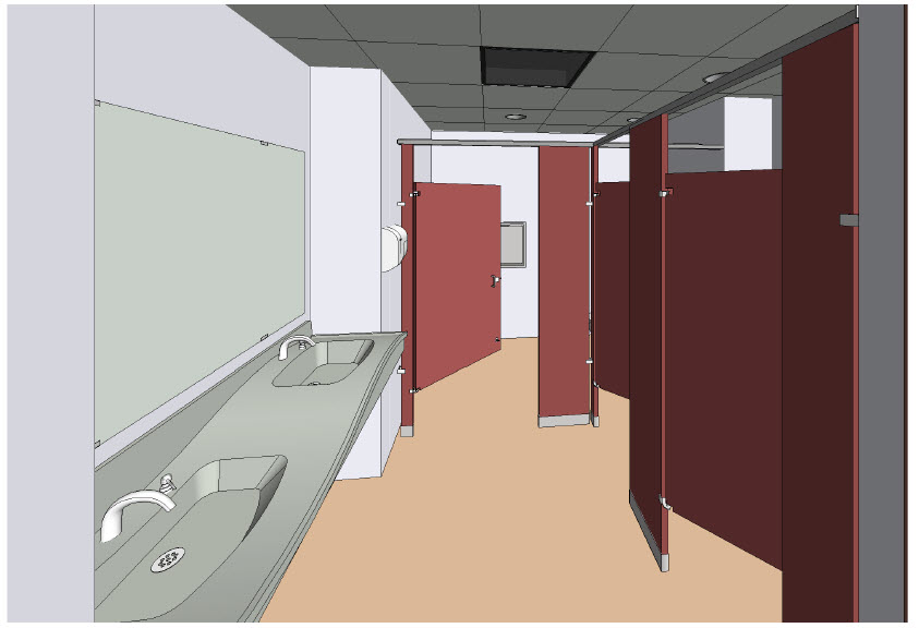 Bradley Revit Toilet Partition Visibility Settings  Revit