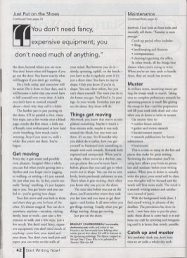 """Writer's Digest, November 2003 """"Just Put on the Shoes"""" page 2"""