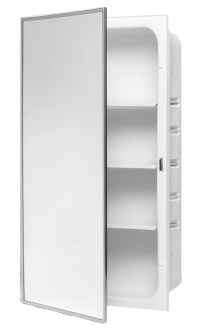 3-Shelf Powder-Coated Body Medicine Cabinet - Bradley ...