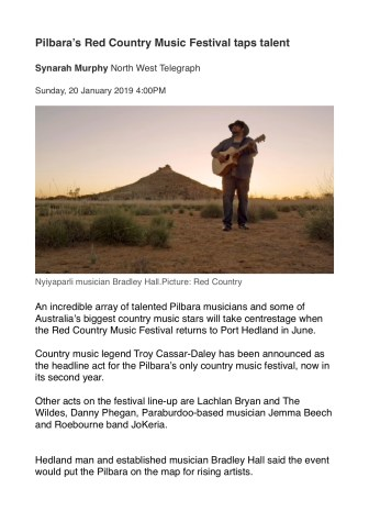 Red Country Music Article 2019