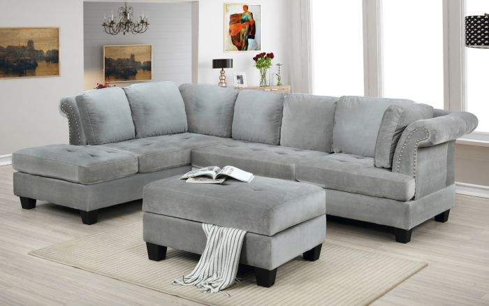 derby reversible sectional storage ottoman grey or navy