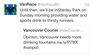 VanRace tweet