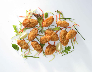 Garlic and Herb Breaded Mussels.