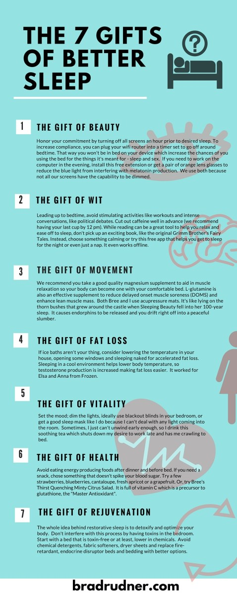 The 7 gifts of restorative sleep infographic image