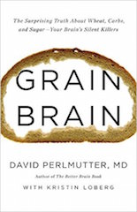 The book cover for Grain Brain by Dr. David Perlmutter