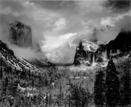ansel-adams-1942-yosemite-valley-clearing-winterstorm