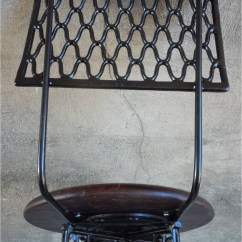 Antique Sewing Chair Knee Ikea With Storage Singer Swivel Bar Stool W Footrest Industrial Cast Iron